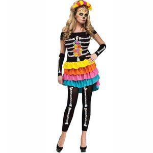 Skeleton Dia de Los Muertos Costume